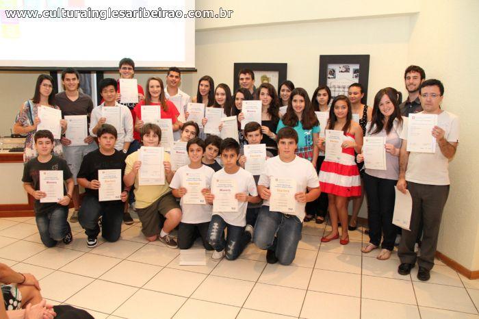 Entrega de Certificados Cambridge - Junho de 2012